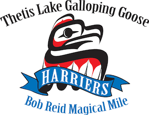 Harriers Thetis Lake Galloping Goose Bob Reid Magical Mile Logo2017 300