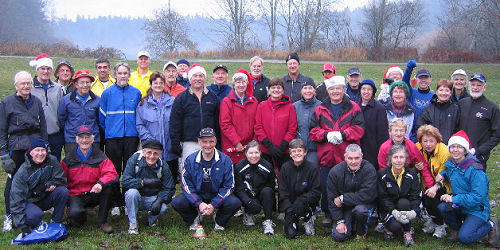 The Thursday Morning Gang at Beaver Lake, December 2007
